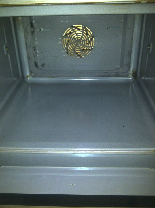 how to clean a very dirty oven window